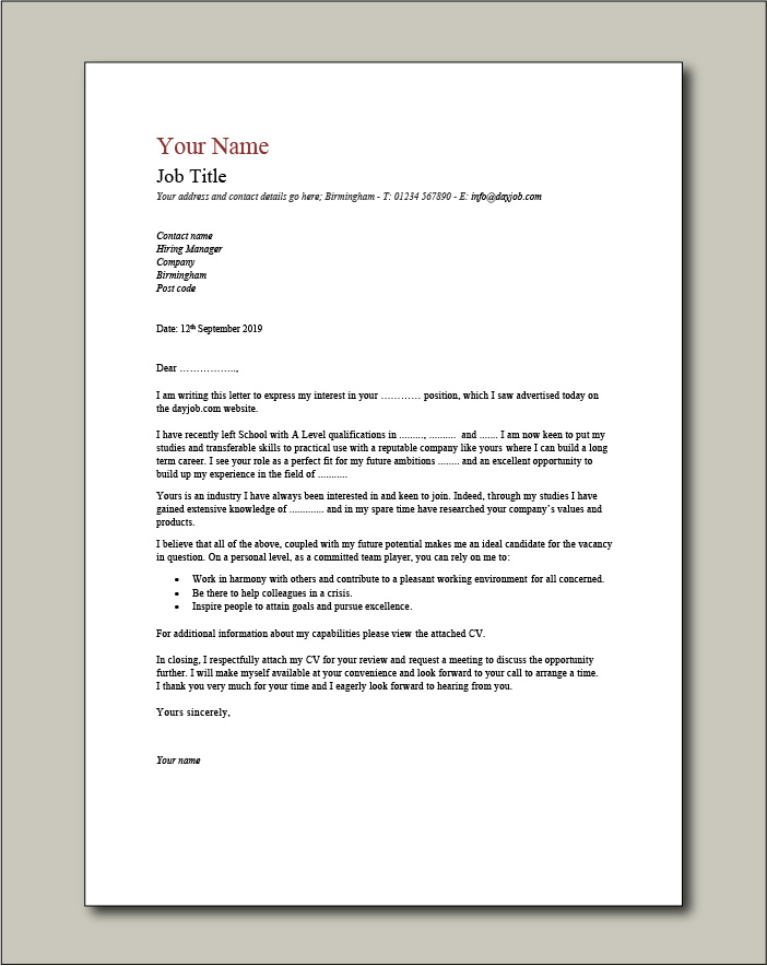 cover letter examples for different job roles in dayjob request resume from candidate Resume Request Resume From Candidate