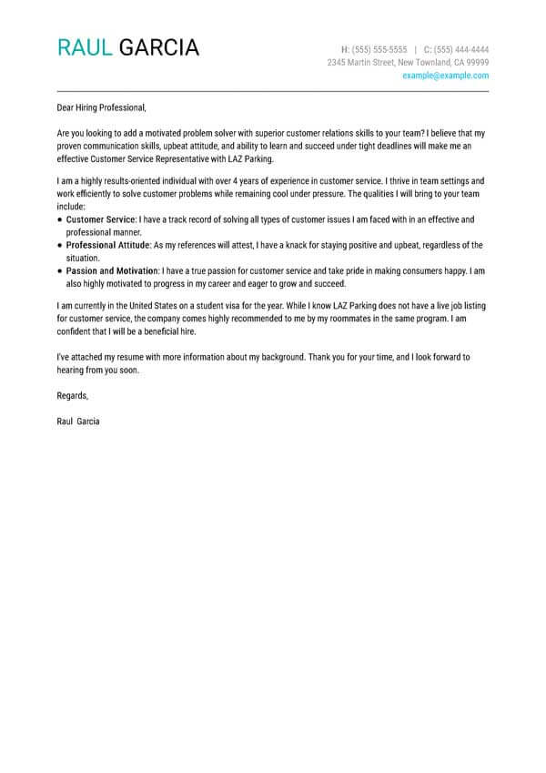 cover letter examples write the perfect best resume ever written unadvertised customer Resume Best Resume Cover Letter Ever Written