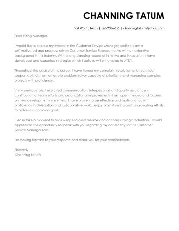 cover letter examples write the perfect resume email example customer service manager Resume Resume Cover Email Example