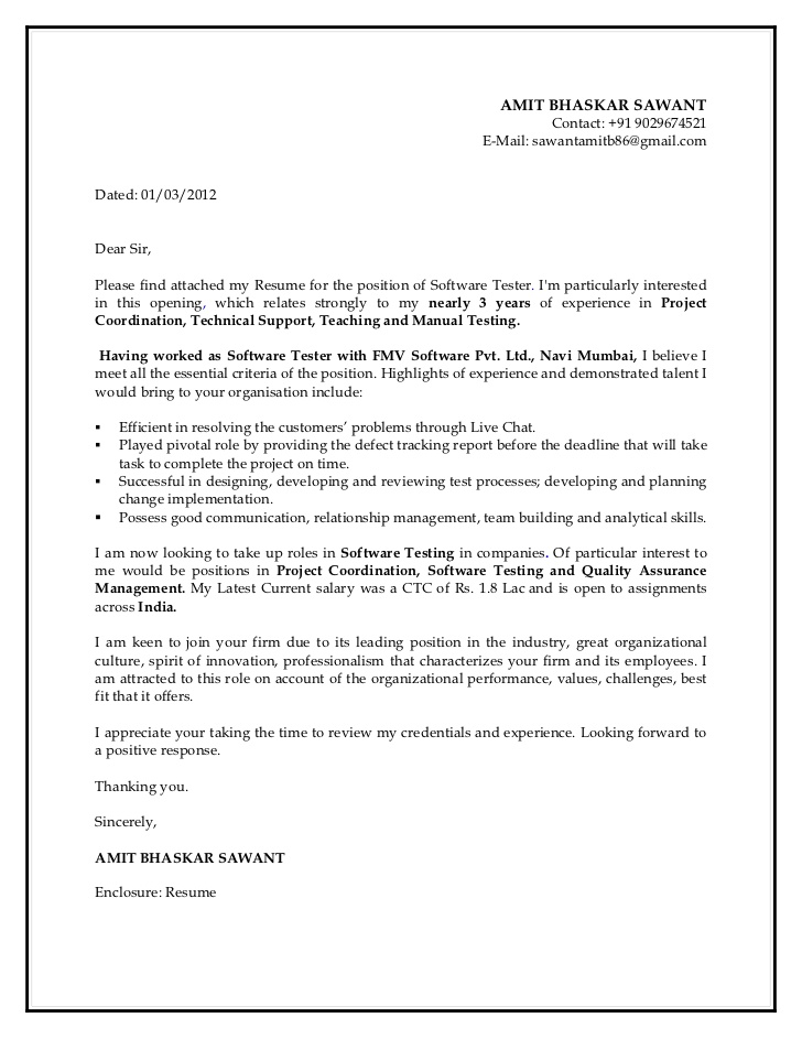 cover letter for manual testing resume skills of driver formulation thank you your Resume Cover Letter For Manual Testing Resume