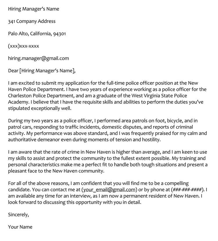 cover letter samples to format with examples police resume officer sample pharmacy intern Resume Police Resume Cover Letter