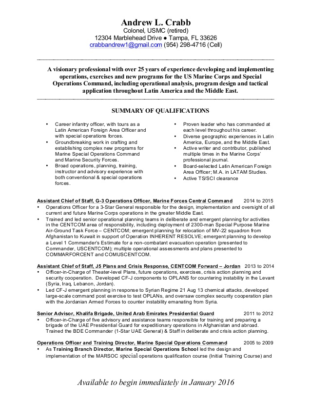 crabb resume marine corps skills for researcher sample free help veterans action words Resume Marine Corps Skills For Resume