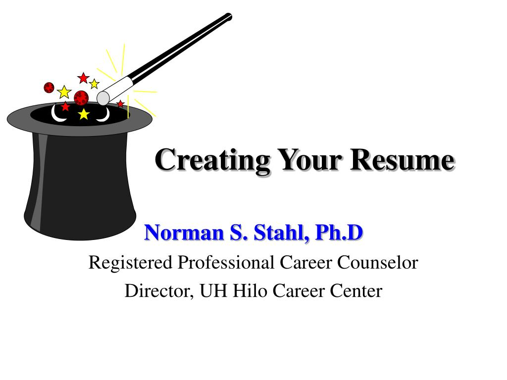creating your resume powerpoint presentation free id uh career services information Resume Uh Career Services Resume