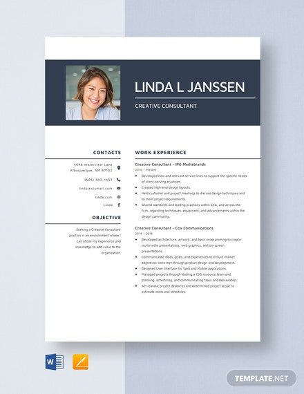 creative consultant resume template word apple mac radiation oncology nurse best color Resume Creative Consultant Resume