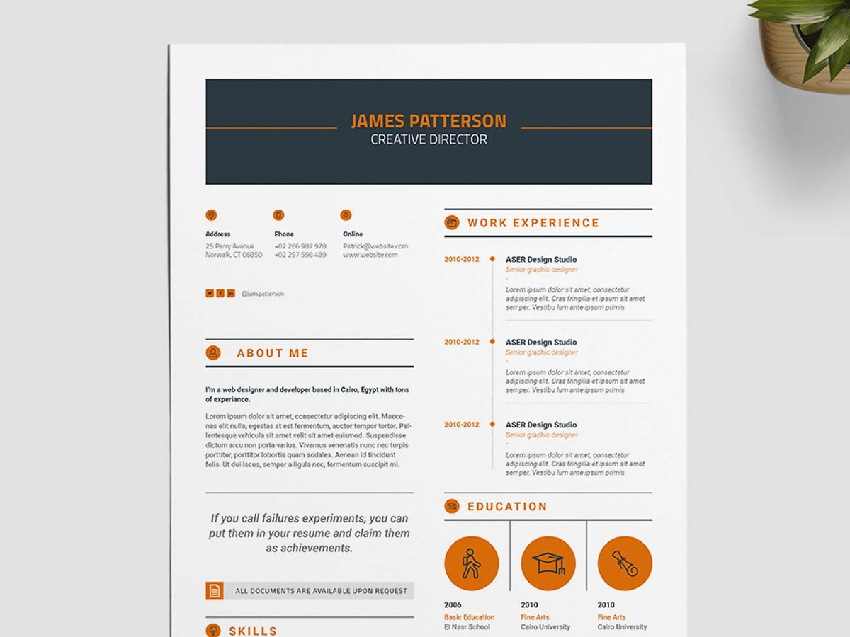 creative indesign resume template free maxresumes cfo format insurance agent job Resume Free Creative Resume Download