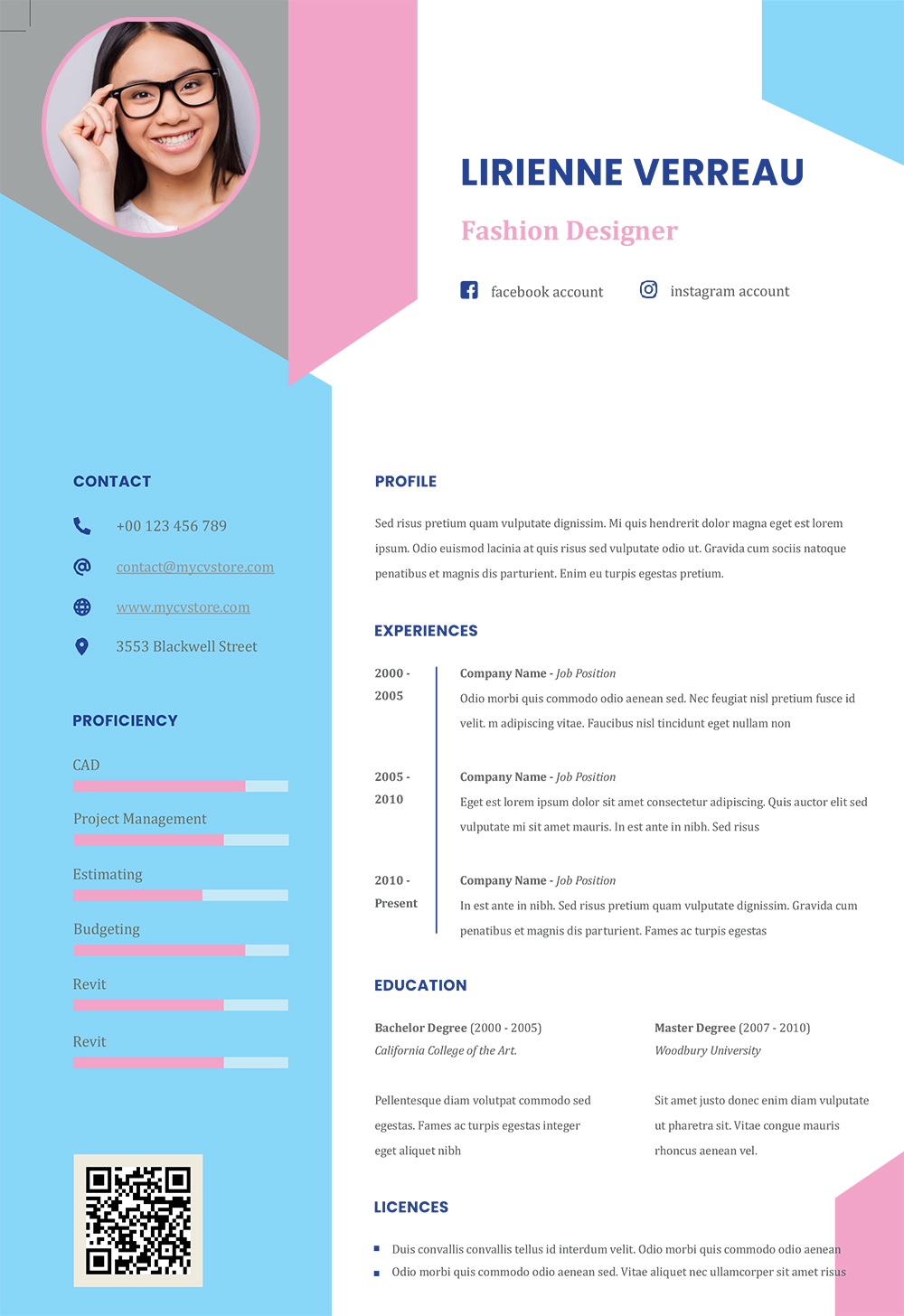 creative infographic resume impressive cv template and cover letter with word format Resume Impressive Resume With A Cover Letter
