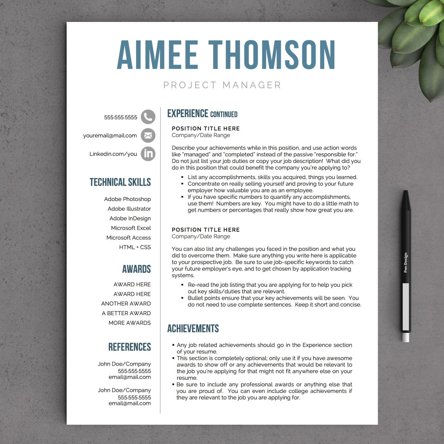 creative modern resume template for word us letter and free examples contact information Resume Modern Resume Template Examples