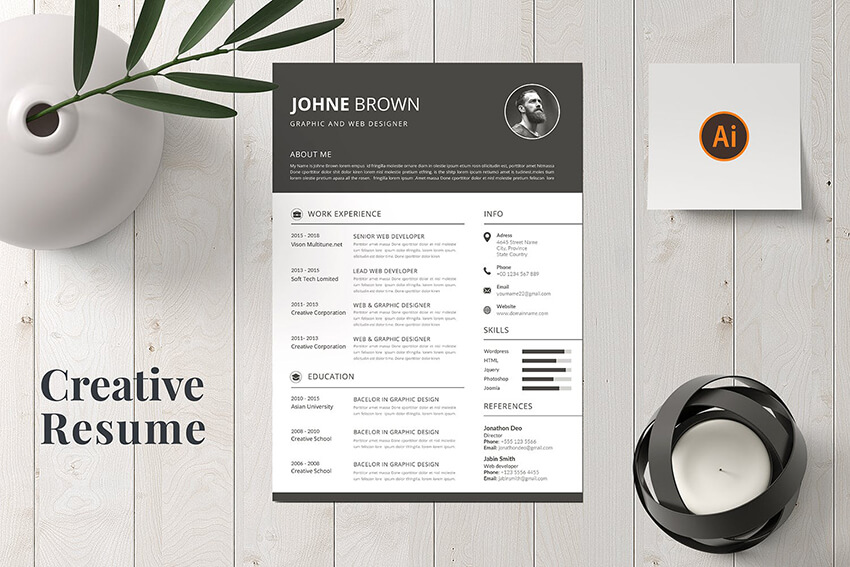 creative resume cv design tips with template examples for sap pi consultant correctional Resume Creative Resume Examples 2020