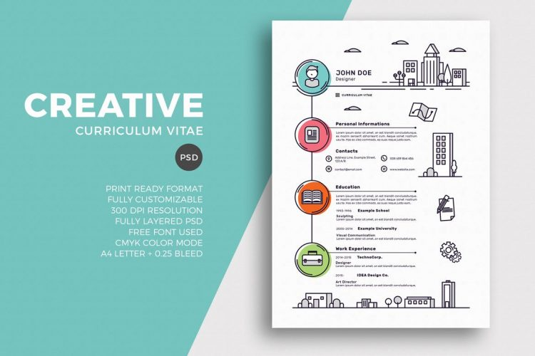 creative resume templates with unique designs theme professional colors 750x500 examples Resume Professional Resume Colors