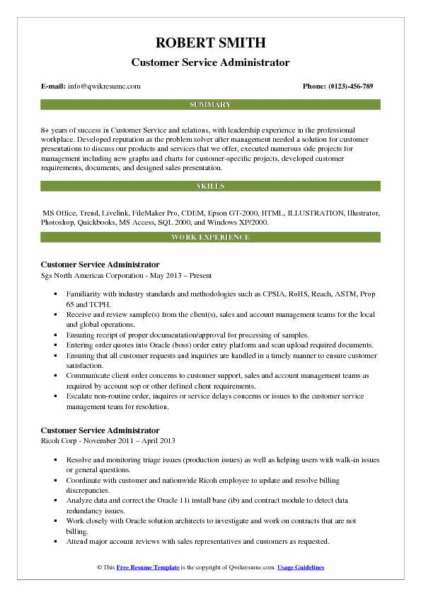 customer service administrator resume samples qwikresume overview pdf accounting clerk Resume Customer Service Resume Overview
