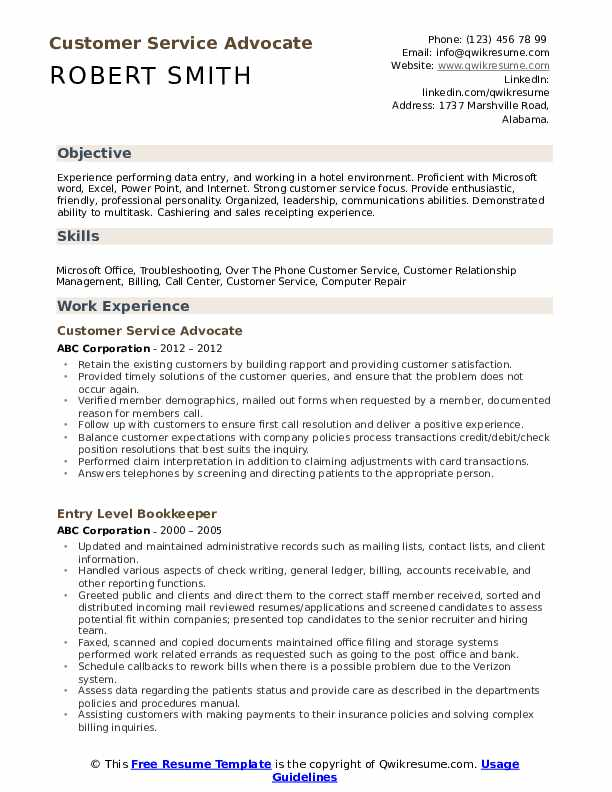 customer service advocate resume samples qwikresume professional skills for pdf clinical Resume Professional Skills For Customer Service Resume