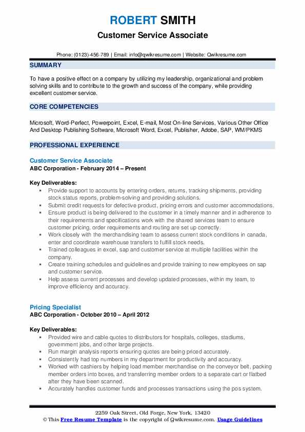 customer service associate resume samples qwikresume pdf technical theatre template Resume Customer Service Associate Resume