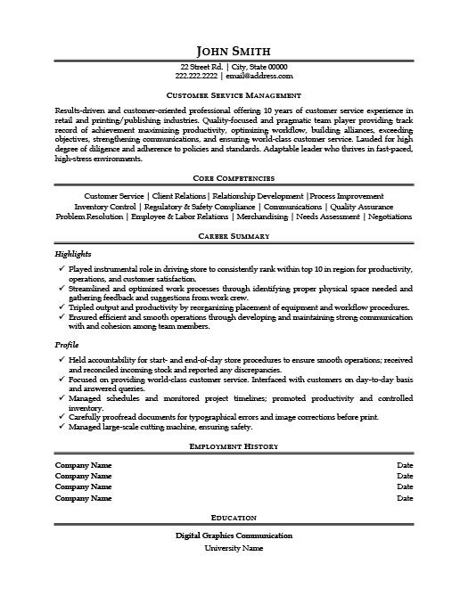 customer service manager resume template premium samples example examples marketing Resume Laboratory Manager Resume