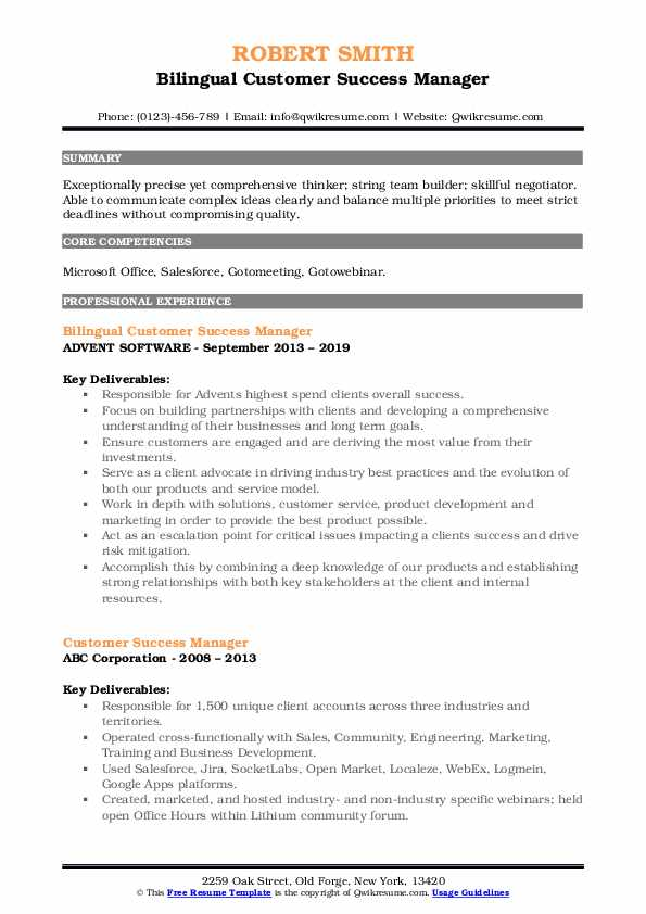 customer success manager resume samples qwikresume sample pdf operational risk consultant Resume Customer Success Resume Sample
