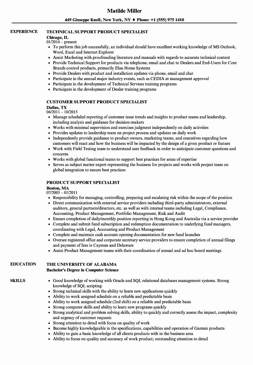 customer support specialist resume inspirational product samples in architect sample job Resume Product Specialist Resume Sample