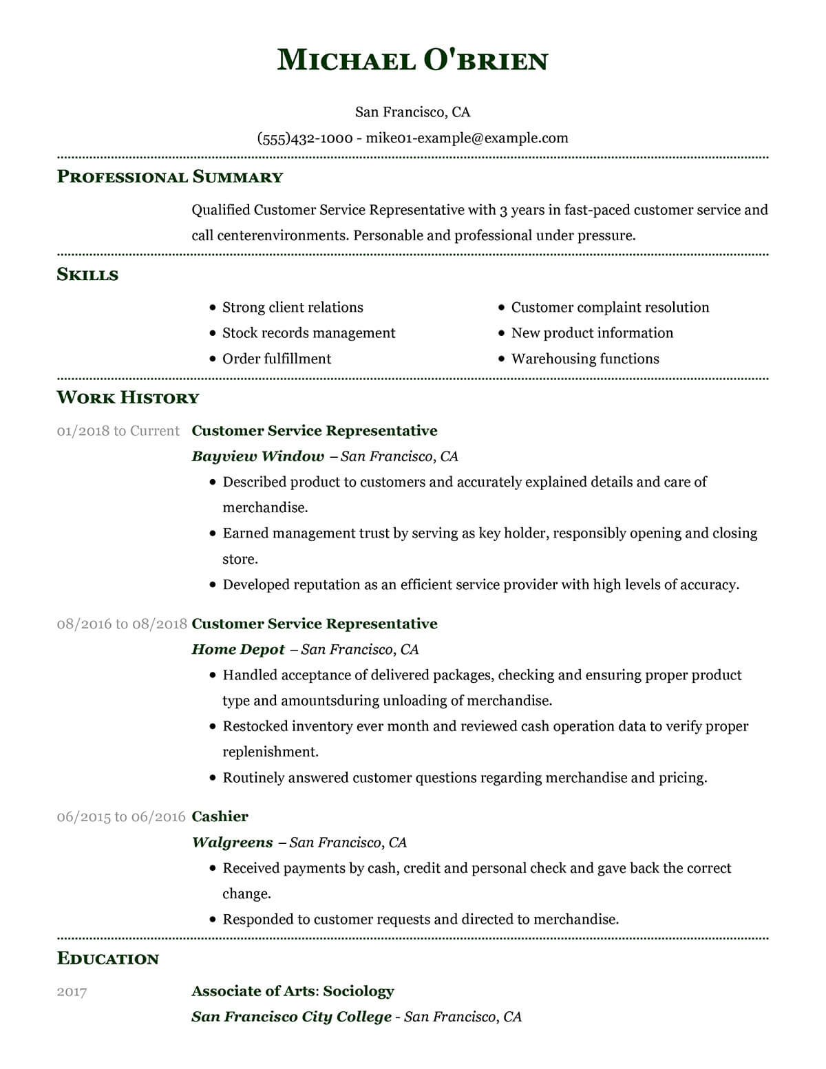 customize our customer representative resume example service sample template automated Resume Customer Service Sample Resume Template