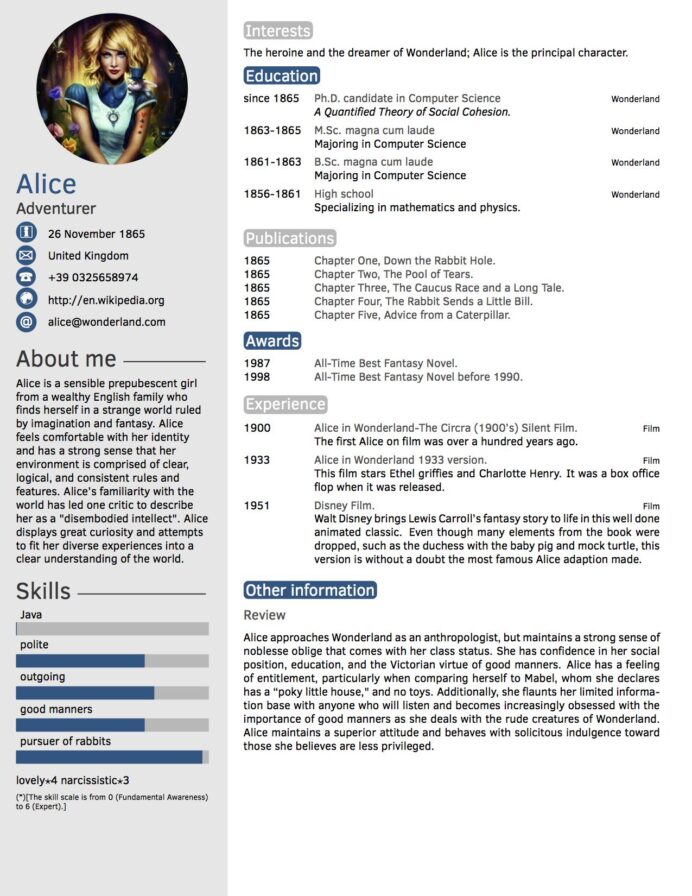 cv in tabular form resume format templates wisestep perfect template sample construction Resume Perfect Resume Template