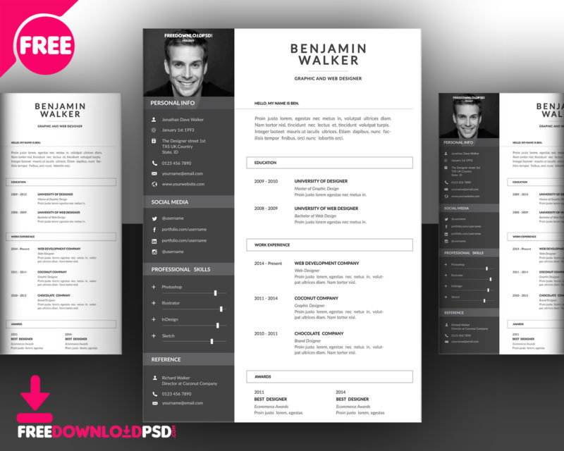 cv size in photoshop resume template free clean cover retail customer service Resume Cascade Resume Template Free