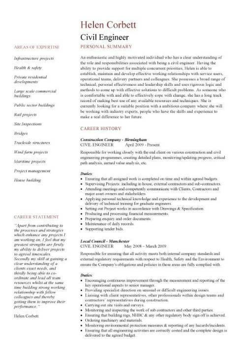 cv template civil engineer engineering resume structural sample and profile french Resume Structural Engineering Resume Sample