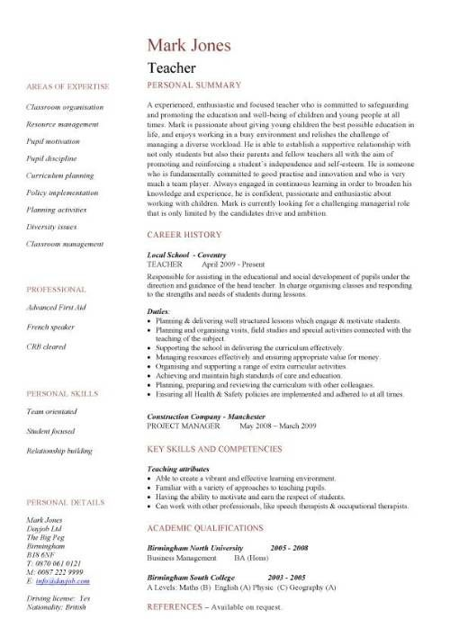 cv template education teaching resume examples teacher staff nurse duties Resume Education Resume Template