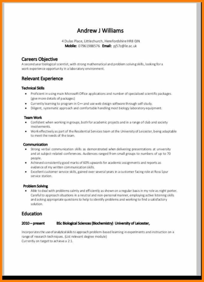 cv template for over resume format examples skills neutral objective microsoft word Resume Neutral Resume Objective
