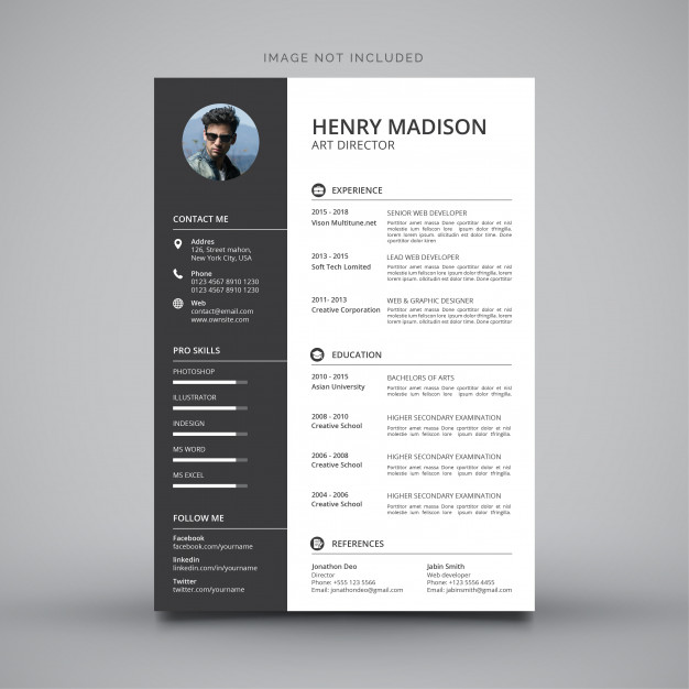 cv template images free vectors stock photos resume photoshop templates modern simple Resume Free Resume Photoshop Templates