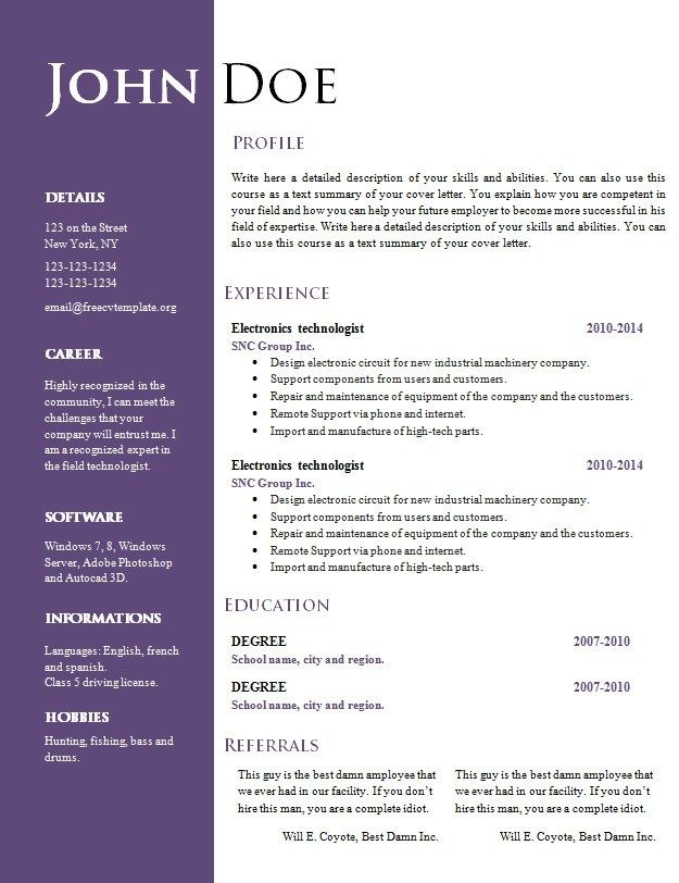 cv word document template resume microsoft free nice templates full cycle accounts Resume Nice Resume Templates Word