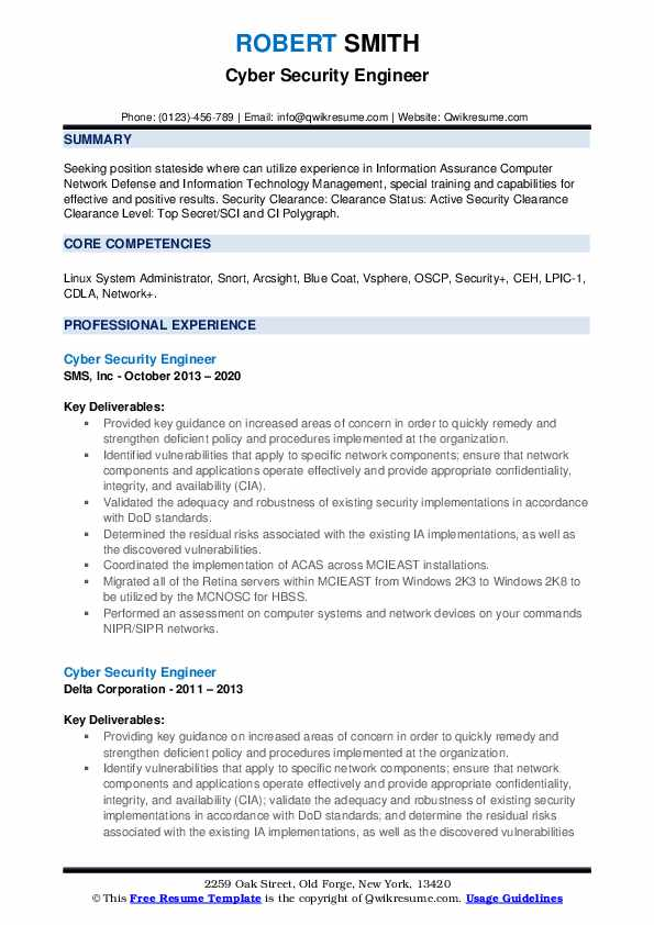 cyber security engineer resume samples qwikresume clearance on examples pdf redhat logo Resume Security Clearance On A Resume Examples