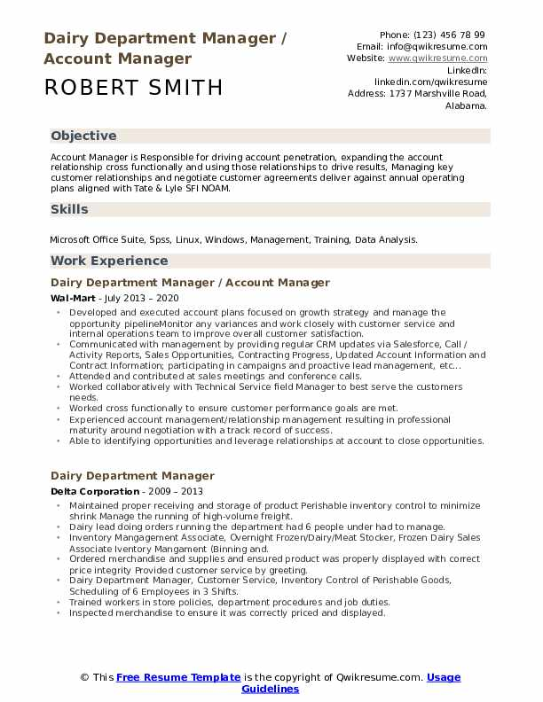 dairy department manager resume samples qwikresume queen sample pdf apply for job format Resume Dairy Queen Resume Sample