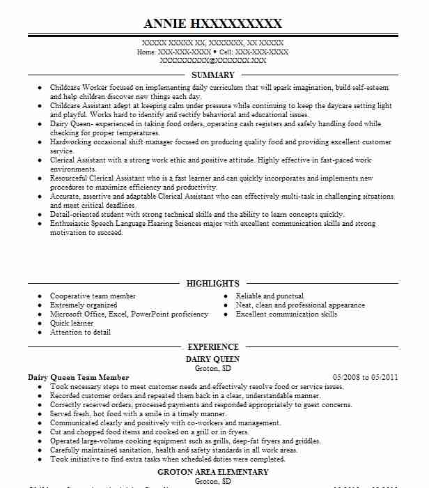 dairy queen crew member resume example sample yacht making your ats friendly Resume Dairy Queen Resume Sample