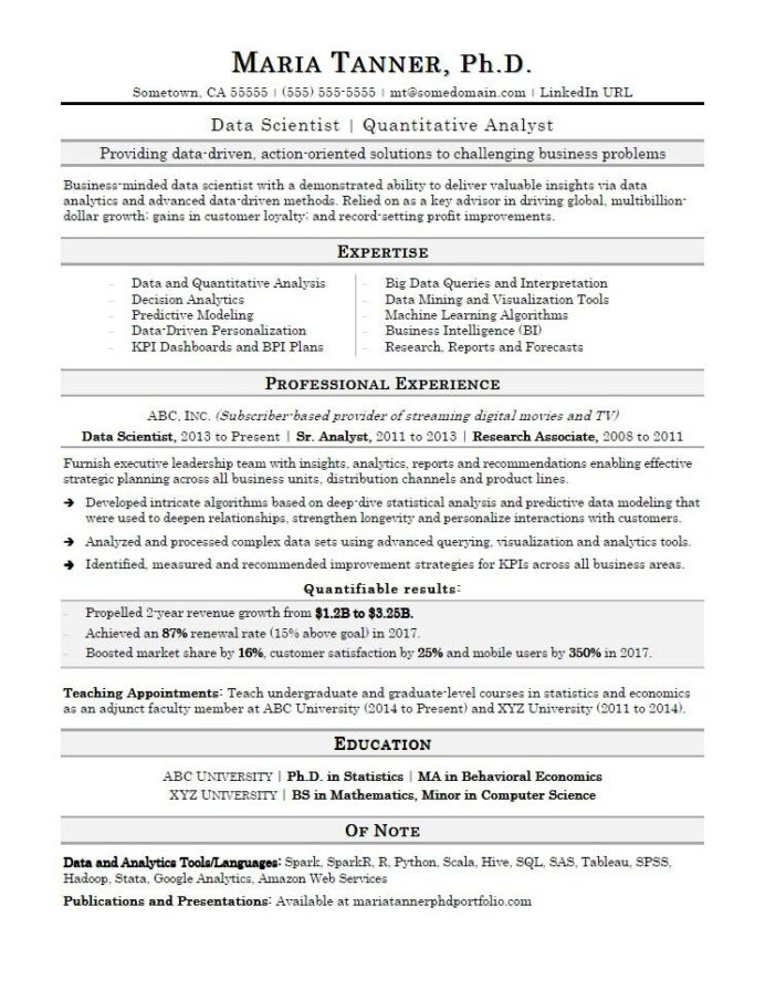 data scientist resume sample monster quantitative research student objective examples Resume Quantitative Research Resume