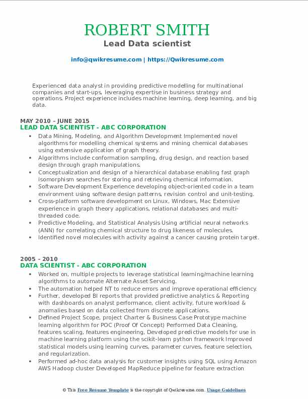 data scientist resume samples qwikresume good machine learning projects for pdf plain Resume Good Machine Learning Projects For Resume