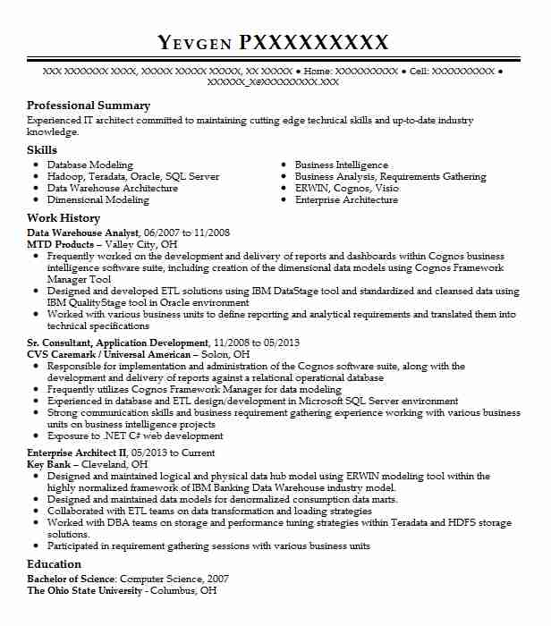 data warehouse analyst resume example resumes livecareer good objective for louis vuitton Resume Good Objective For Resume Warehouse
