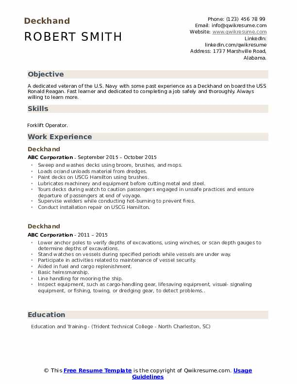 deckhand resume samples qwikresume fire watch examples pdf fashion production coordinator Resume Fire Watch Resume Examples