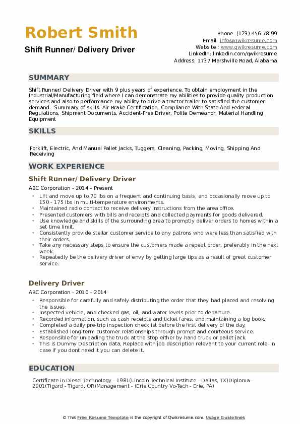 delivery driver resume samples qwikresume route sample pdf references example truck Resume Route Driver Resume Sample