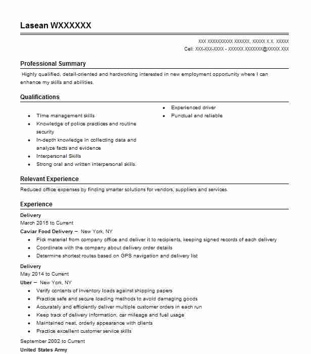 delivery resume example postmates burbank can you put on shipping clerk previous job Resume Can You Put Postmates On Resume