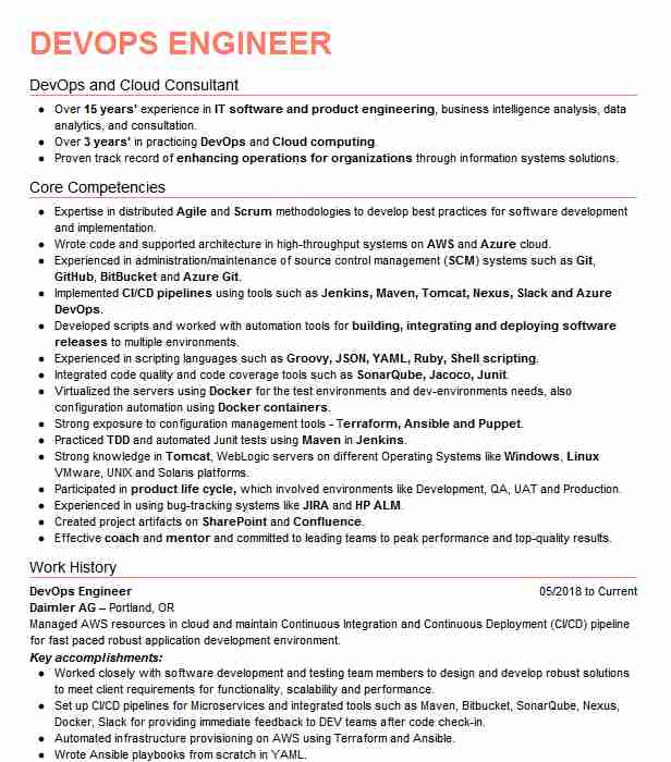 devops consultant resume example tech mahindra foristell horticulture template best Resume Devops Consultant Resume