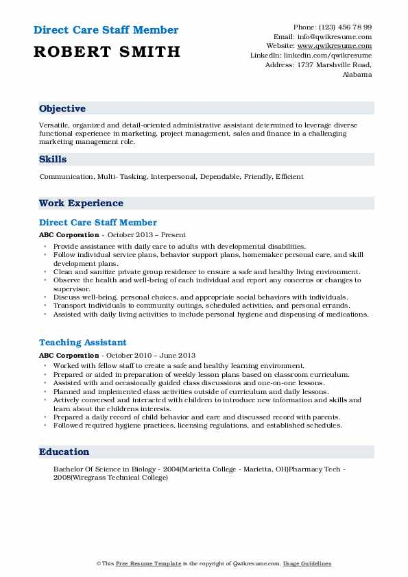 direct care staff resume samples qwikresume job description for pdf typing and service Resume Direct Care Staff Job Description For Resume