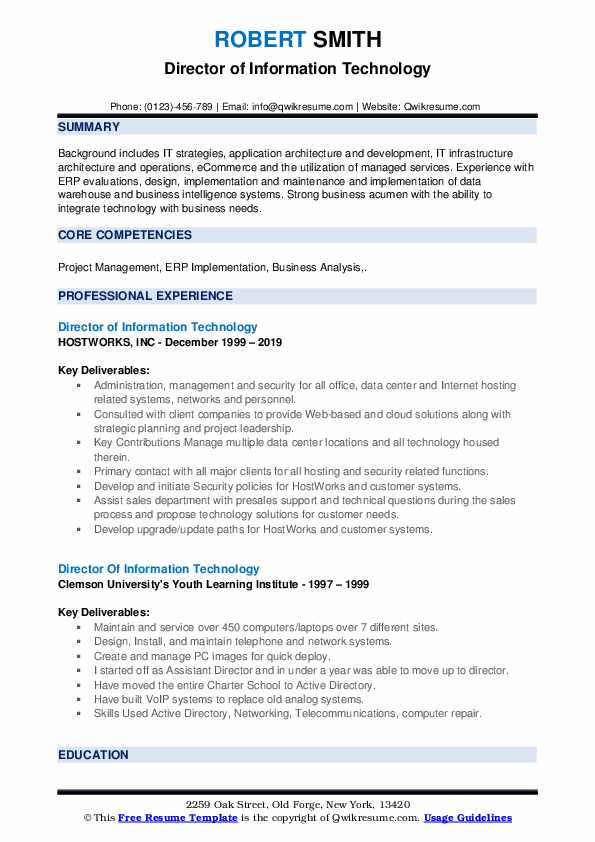 director of information technology resume samples qwikresume examples pdf waiting tables Resume Information Technology Resume Examples 2019