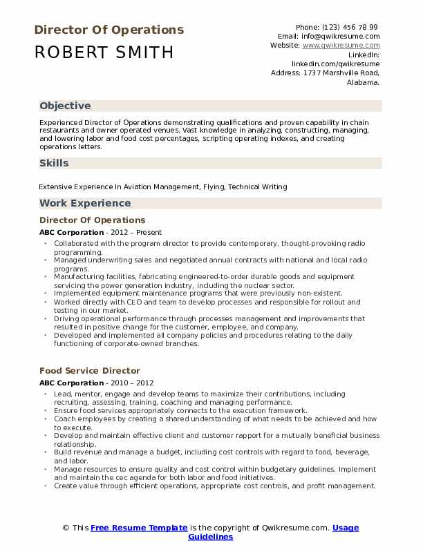 director of operations resume samples qwikresume sample for senior manager pdf compliance Resume Sample Resume For Senior Manager Operations