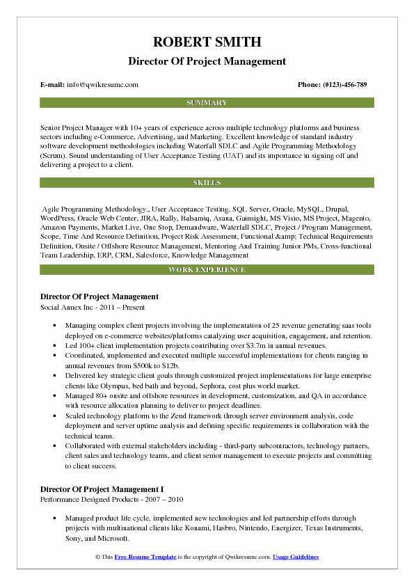 director of project management resume samples qwikresume best programming projects for Resume Best Programming Projects For Resume