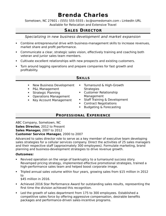 director resume sample monster best skills and abilities with year work experience nurse Resume Best Resume Skills And Abilities