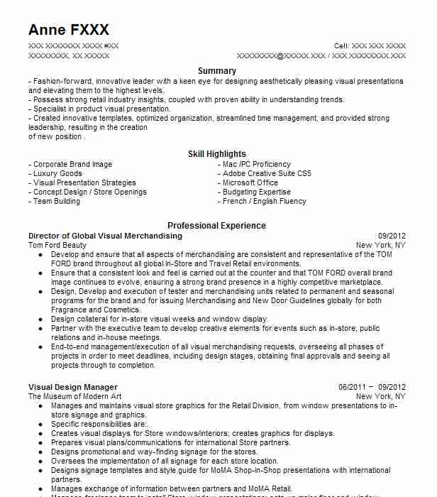 director visual merchandising resume example chicos fas fort myers fashion and cover Resume Fashion Merchandising Resume