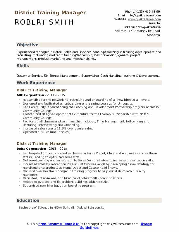 district training manager resume samples qwikresume retail pdf template now specialist Resume Retail Training Manager Resume