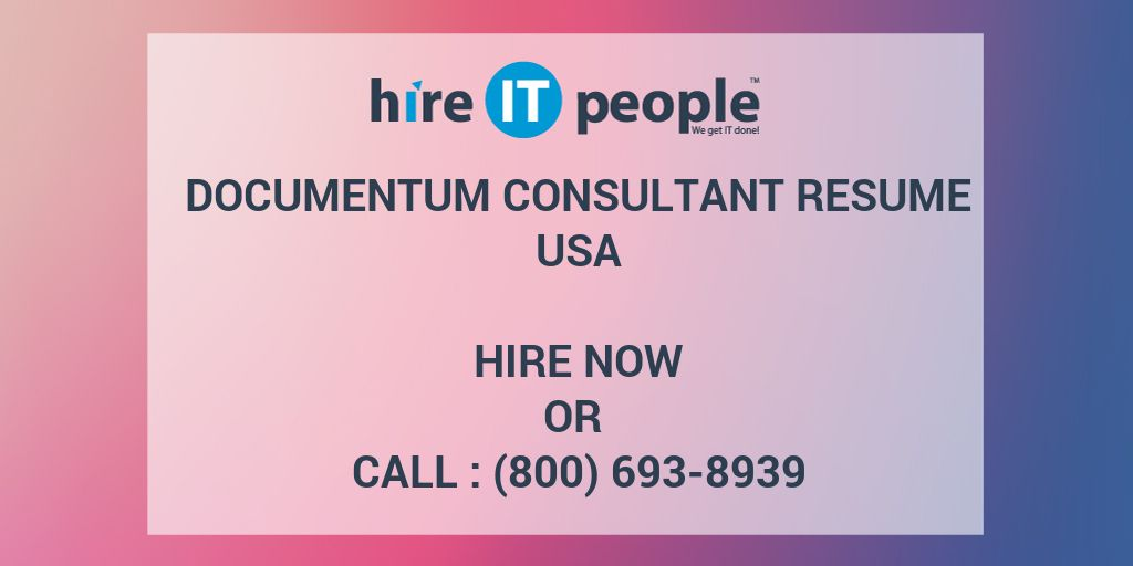 documentum consultant resume hire it people we get done developer post grad professional Resume Documentum Developer Resume