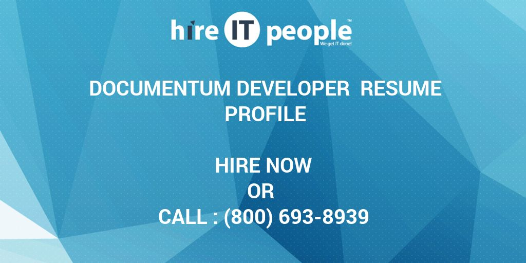 documentum developer resume profile hire it people we get done post grad rating veterans Resume Documentum Developer Resume