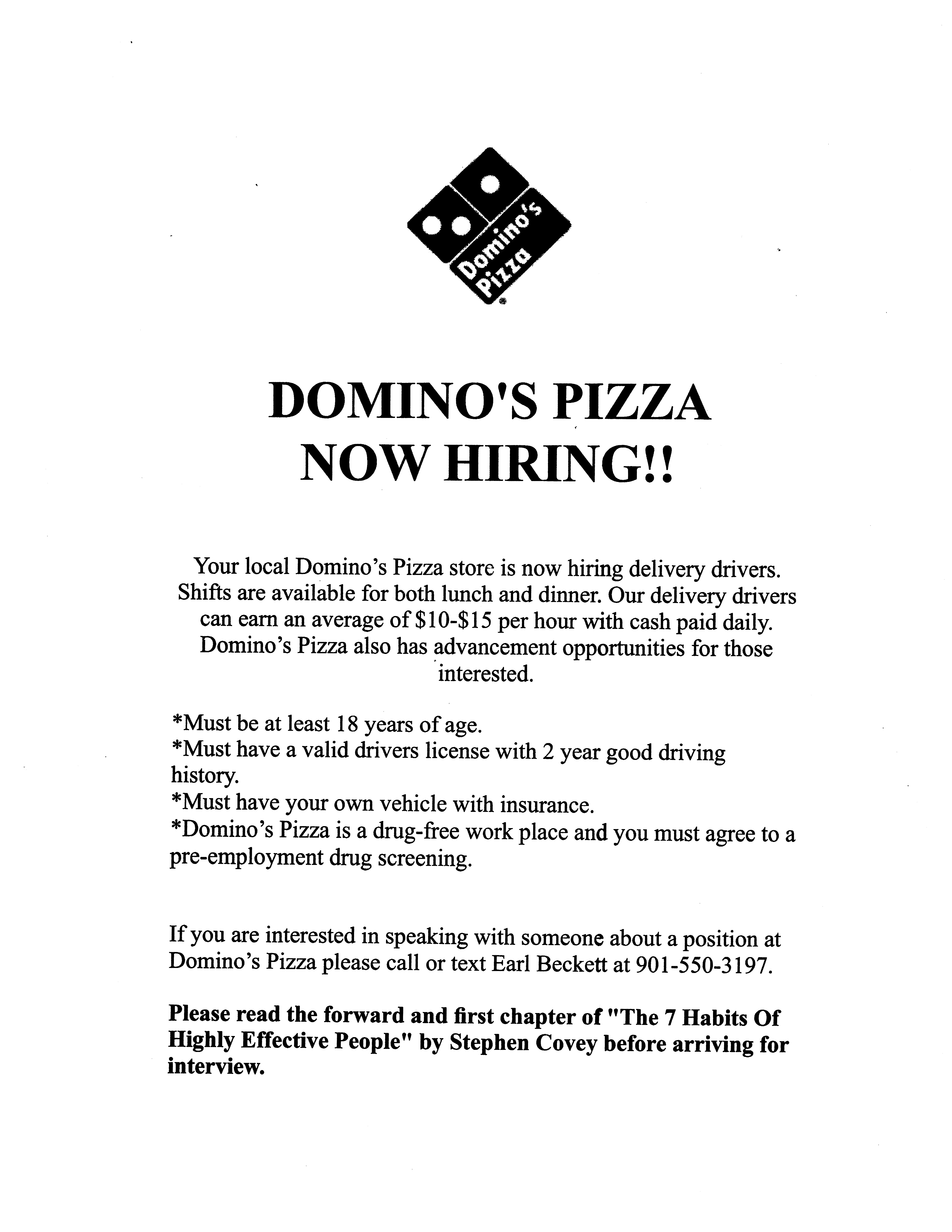 domino pizza hiring delivery drivers job career news dominos driver description for Resume Dominos Delivery Driver Job Description For Resume