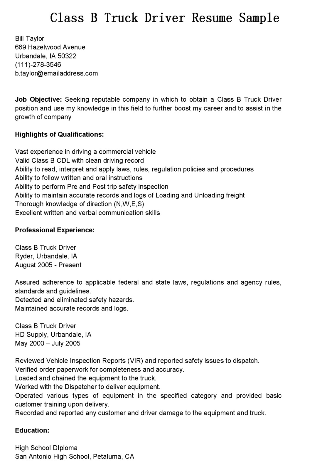 driver resumes truck resume sample driving objective examples vocal coach define job Resume Truck Driving Resume Objective Examples