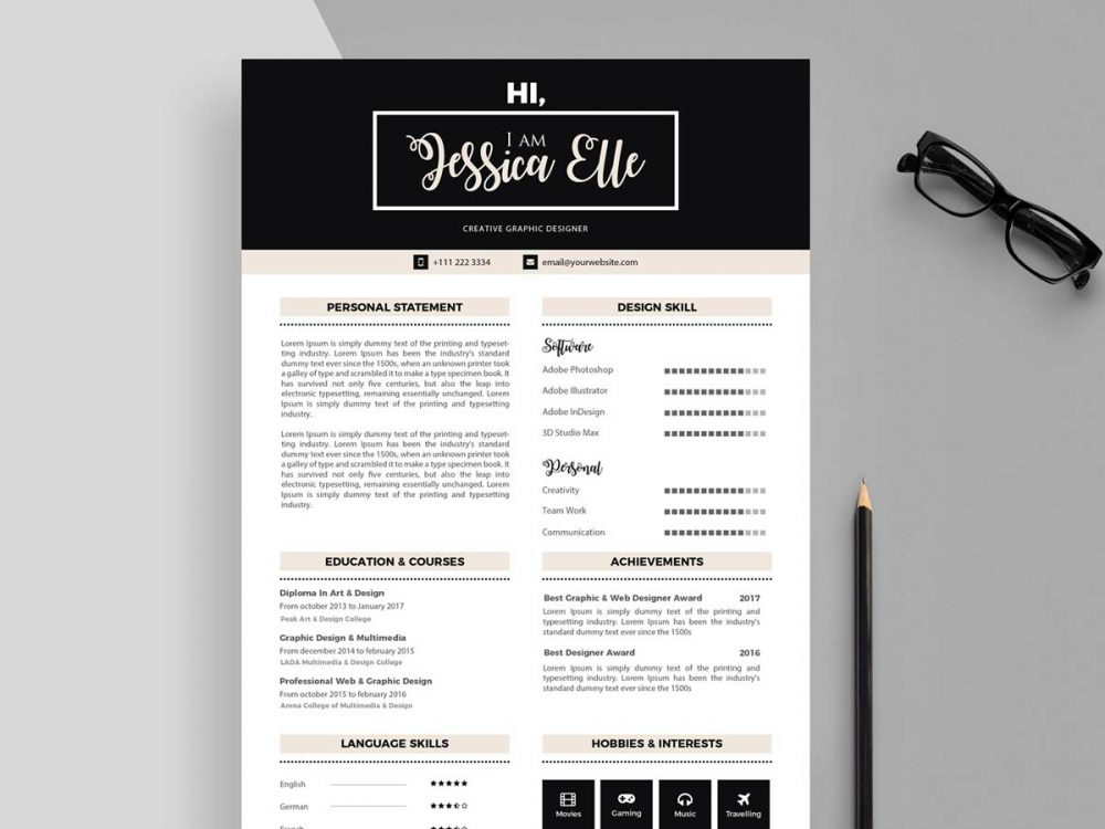 editable cv templates free resumekraft resume builder and print 1000x750 business Resume Free Resume Builder Download And Print