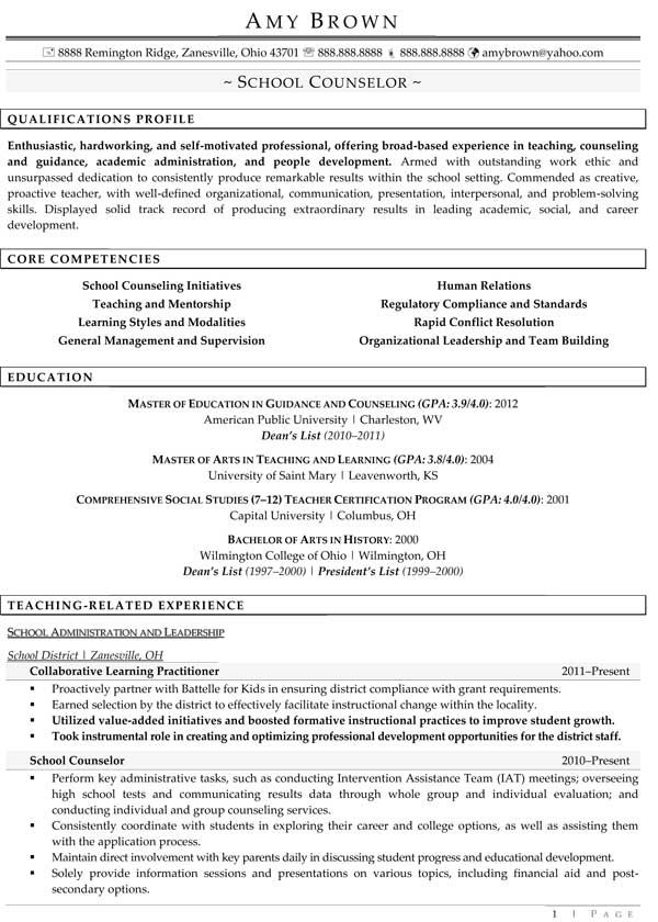 education resume examples professional writers school counselor guidance counselors job Resume Education Counselor Job Description For Resume